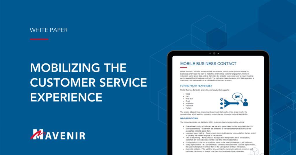 Whitepaper - Mobilizing the Customer Service Experience